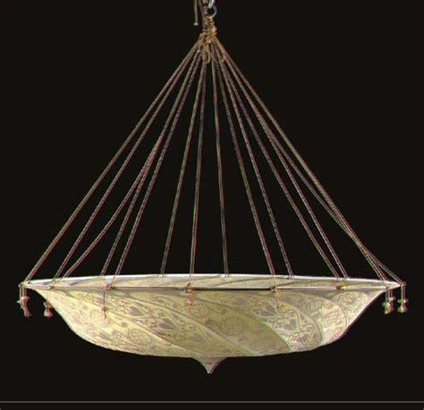 Silk Chandelier A Venetian Silk Fortuny Chandelier