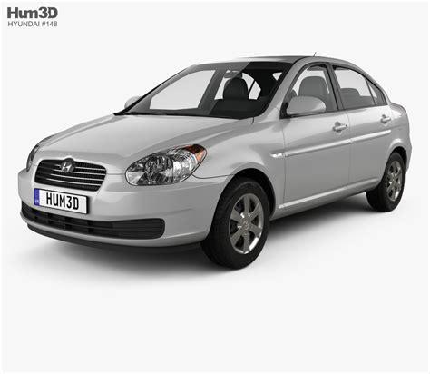 Hyundai Accent 3d Model hyundai accent mc sedan 2006 3d model hum3d