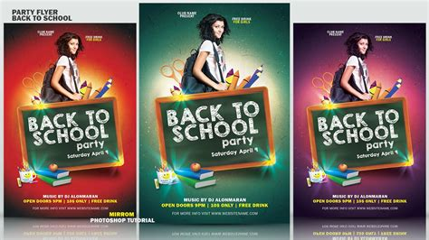 tutorial photoshop flyer photoshop basic tutorial make a party flyer back to school