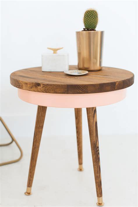 diy table legs lowes diy mid century side table sugar cloth home decor diy