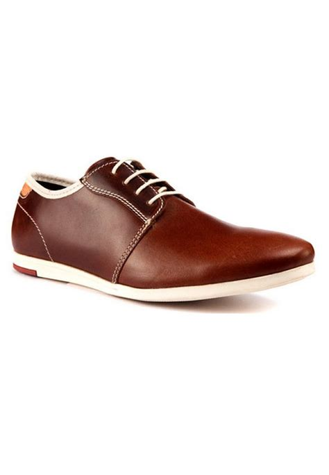 brown leather casual shoes rts7615