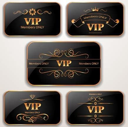 vip card template 30 beautiful free vector cards for various events