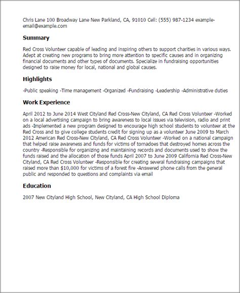Volunteer Letter Of Credit Professional Cross Volunteer Templates To Showcase Your Talent Myperfectresume