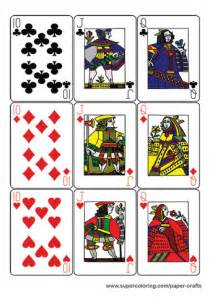 Guyenne Classic Deck Of Playing Cards Printable Template Free Printable Papercraft Templates Printable Deck Of Cards Template