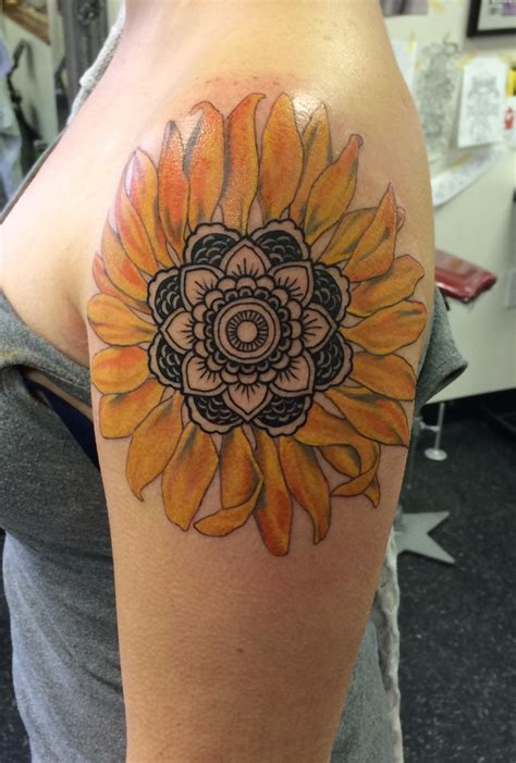 sunflower arm tattoo 75 sunflower tattoos designs mens craze