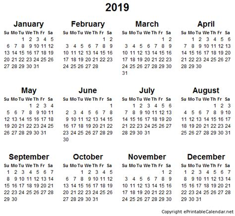 printable yearly calendar 2019 printable calendar 2019 2018 2017 calendar printable for