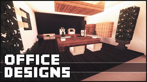 Kitchen Designs Small Space by Minecraft Office Designs Amp Ideas Youtube