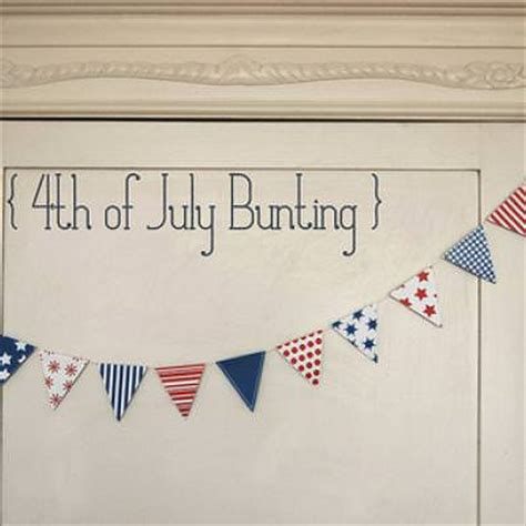 printable fourth of july banner printable 4th of july bunting and mini flags tip junkie