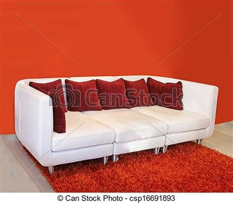 red and white leather sofa stock photographs of red cushion sofa modern white