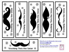 printable mustache bookmarks 1000 images about library promotion mustache theme on