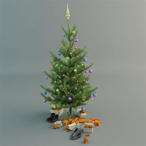 christmas tree 3d model max cgtrader com