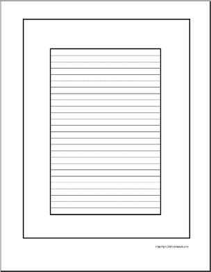 printable lined paper with blank border primary lined paper border new calendar template site