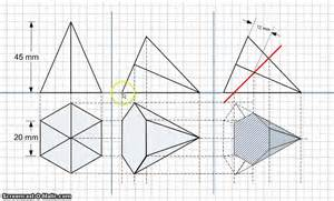 sections of solids hexagon pyramid