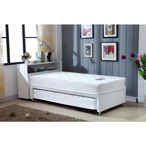 single bed with trundle single white bed frame with trundle 2 mattresses buy
