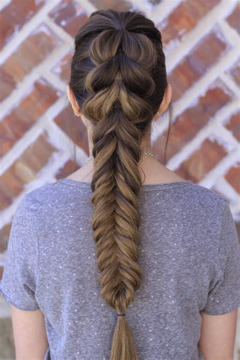 fishtail braids hairstyles pull through fishtail braid combo hairstyles