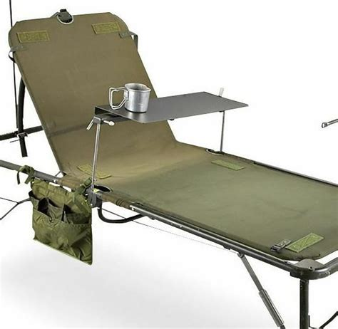 used army field hospital bed cot fully adjustable stand triage prepper ebay