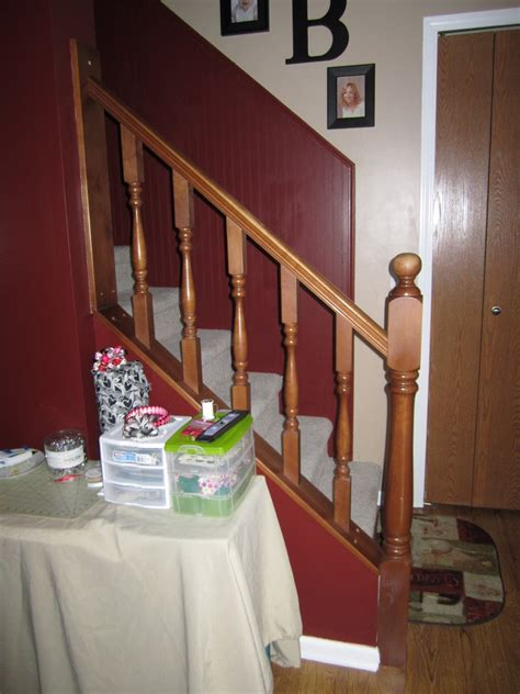 sanding banister the diy momma how to paint a staircase banister without