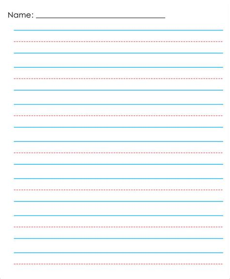 primary writing paper 13 lined paper templates in pdf free premium templates