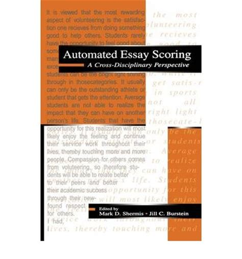 Free Automated Essay Scoring automated essay scoring d shermis 9780805839739