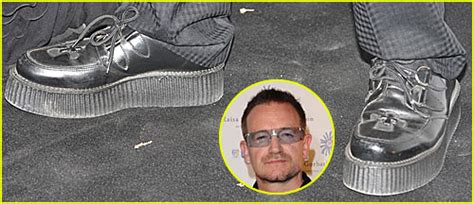 bono puts on his platform shoes ali hewson bono just
