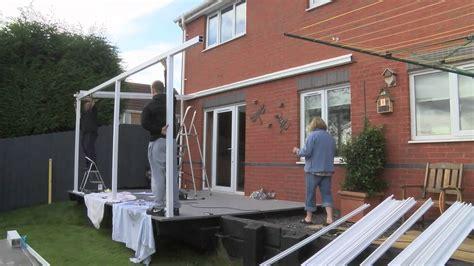 Building A Car Port Aluminium Carport Canopy Installation Demonstration Youtube