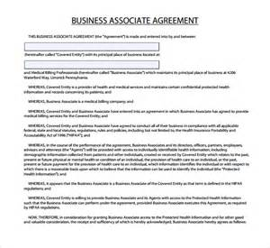 Business Associate Agreement Hipaa Template sle business associate agreement 6 free documents
