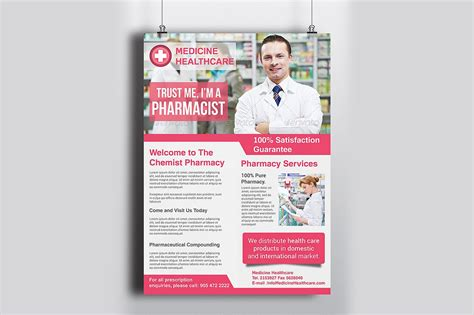 Pharmacy Brochure Template Free by Pharmacy Flyer Template Flyer Templates Creative Market
