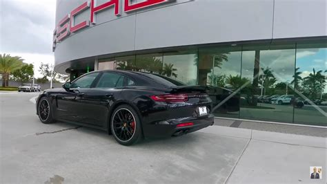 porsche panamera turbo 2017 back 2017 jet black porsche panamera turbo 550 hp porsche