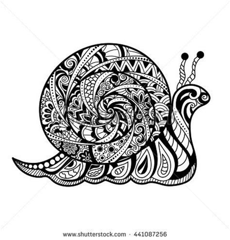 Kemeja Black Abstract White Snail vector outline snail decorated vectores en