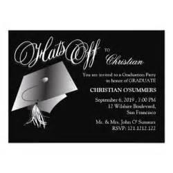 black and white graduation invitation zazzle