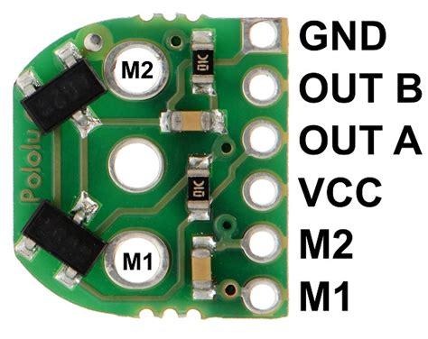 Encoder Sensor 6 Pin magnetic encoder pair kit for micro metal gearmotors 3081 pololu