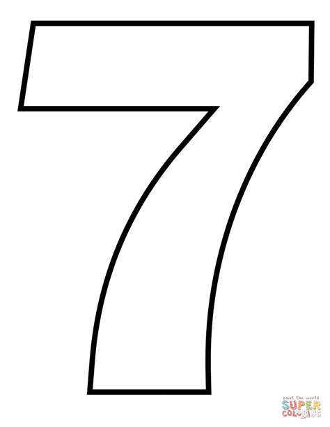 Number 7 Coloring Page number 7 coloring page free printable coloring pages