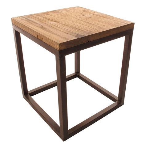 Large Side Table Solid Chunky Reclaimed Elm Wood Large Side End Table Kathy Kuo Home