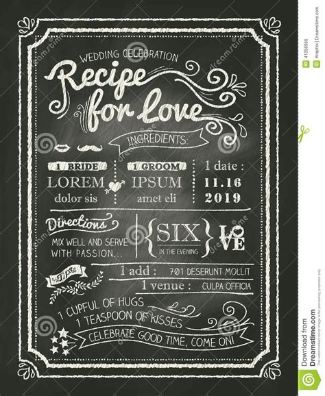 chalkboard recipe card template recipe for chalkboard wedding invitation card stock
