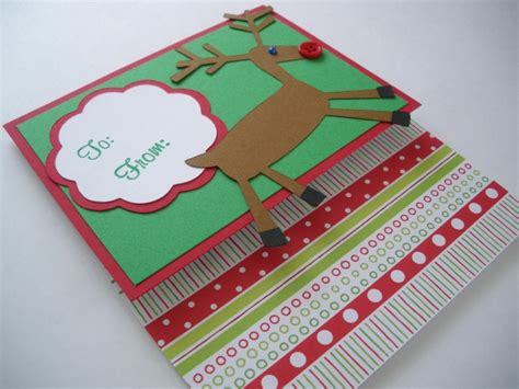 Handmade Gift Cards - etsygreetings handmade cards gift card holder reindeer