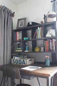 boy desk boy s small bedroom an update the inspired room
