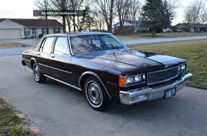 1985 Chevrolet Caprice 1985 Chevrolet Caprice Classic Sedan 4 Door 4 3l
