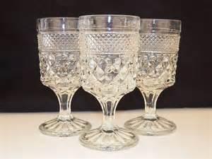 Bar Stemware Vintage Glassware Anchor Hocking Wexford Set Of Three