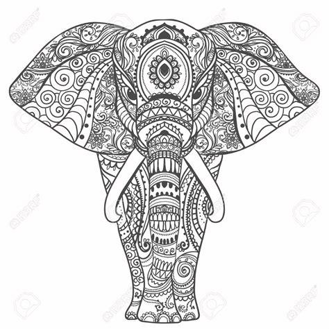 mandala coloring pages elephant gru 223 sch 246 ne karte mit elefant frame of animal gemacht in