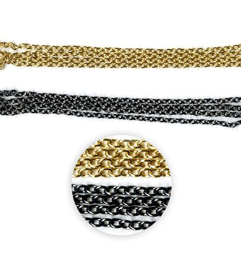 blue moon chain blue moon metal chain oval cable gold black
