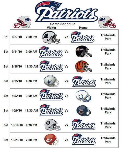 printable schedule for new england patriots patriots schedule 2016 2017 printable calendar template 2016