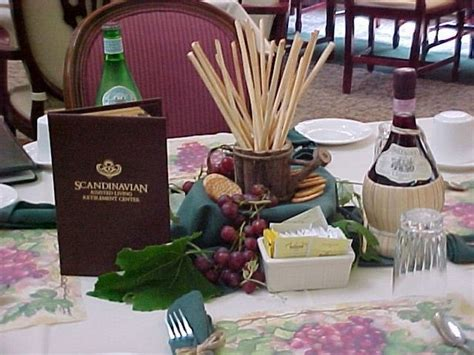 How To Decorate For An Italian Dinner Party Centerpieces Italian Table Decorations
