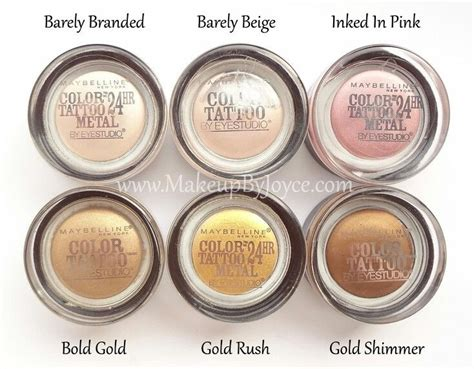 maybelline tattoo eyeshadow 25 best ideas about maybelline color on