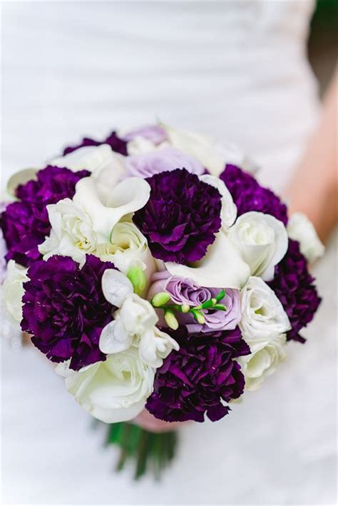 Purple Wedding Bouquets by Best 20 Purple Flowers Ideas On