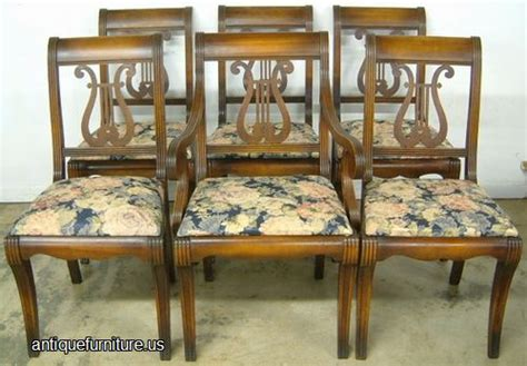Dining Room Furniture Auctions Antique Set 6 Mahogany Lrye Back Dining Chairs At Antique