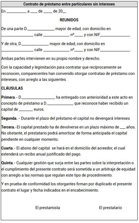 contrato de prestamo entre particulares con o sin pr 233 stamos entre particulares 191 con o sin contrato taringa