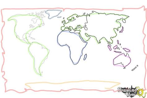 draw a map how to draw a world map drawingnow