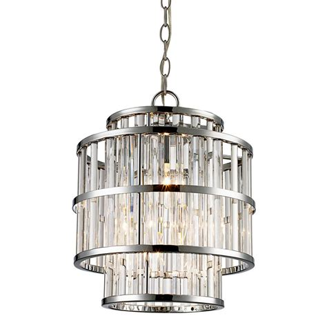 Bel Air Lighting Chandelier Bel Air Lighting 3 Light Polished Chrome Chandelier With Clear Shade Mdn 1456 The Home Depot