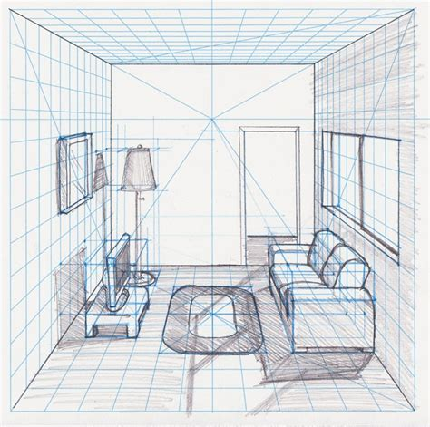 1 Point Perspective Bedroom - bedroom drawing one point perspective fresh bedrooms
