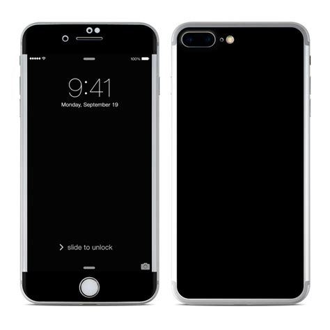 apple iphone 8 plus skin solid state black by solid colors decalgirl